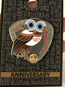 NEW Hard Rock Cafe Athens 2021 Anniversary Pin 6 Years