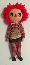 Rare Vintage Articulated Plastic Raggedy Ann Doll 1975 The Bobbs - Merrill Nasco