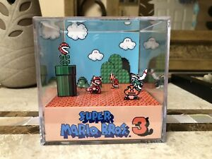 Super-Mario-Bros-3-Nintendo-NES-3D-Cube-Handmade-Diorama-Shadowbox