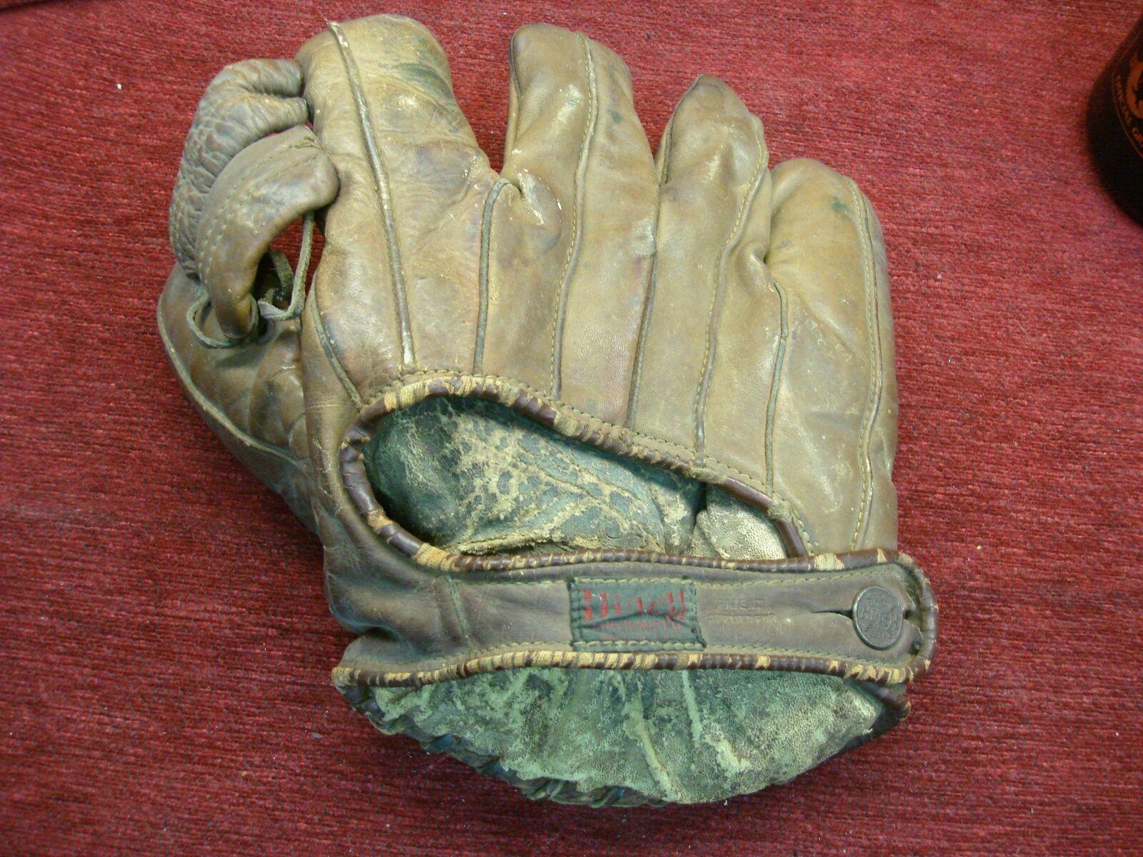 Aparador De Cuero Vintage izquierda zurdos Guante  de béisbol  garantía de crédito