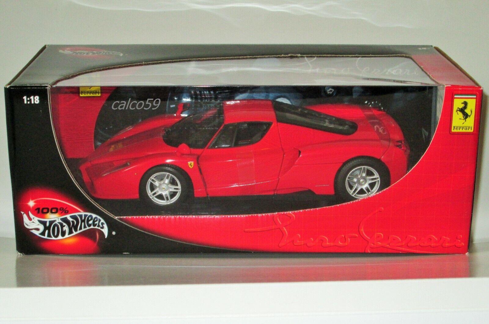 Hotwheels Enzo Ferrari 1 18 escala Diecast-rosso-Nuevo Y En Caja