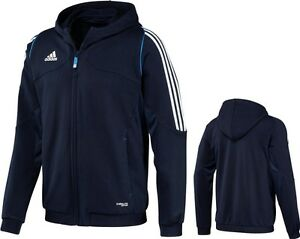 adidas-Maenner-Hoody-blau-Kapuzenjacke-Zip-Hoodie-Gr-XS-S-XXL