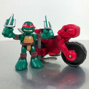 TMNT-Half-Shell-Heroes-RAPH-amp-MINIBIKE-figures-Teenage-Mutant-Ninja-Turtles