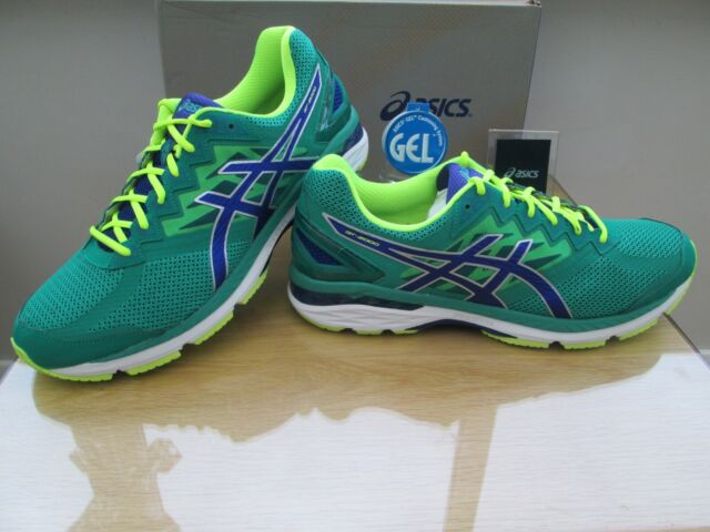 abholen Professionel 2019 heißer verkauf ASICS Gt-2000 4 Mens Green Support Running Road Sports Shoes Trainers 2e  Width UK 15
