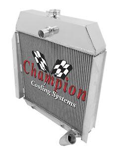"3 Row Racing Champion Radiator W// 16/"" Fan for 1941-1949 International Trucks"