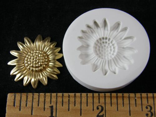 Sunflower Polymer Clay Mold Lg #MD1440
