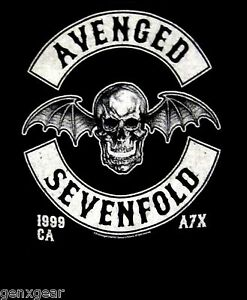 AVENGED-SEVENFOLD-cd-lgo-DEATH-BAT-039-99-Official-Baby-ONE-PIECE-Shirt-18-Months