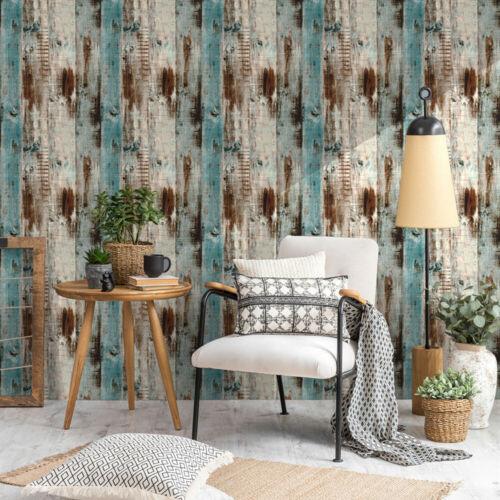 Vintage Wood Grain Self Adhesive Wallpaper Kitchen Furniture Film Stickers Decor