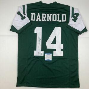Autographed-Signed-SAM-DARNOLD-New-York-Green-Rookie-Football-Jersey-Beckett-COA