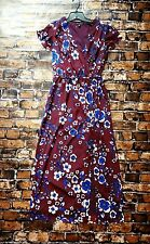 Banana Republic Floral Maxi Dress Burgundy with side slit Size S