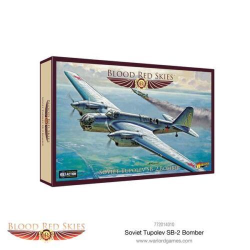 Rouge sang ciel Entièrement neuf dans sa boîte Soviétique TUPOLEV SB-2 Bomber WG-772014010