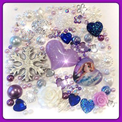 Disney Frozen Elsa Theme Cabochon Gem /& pearls flatbacks for decoden crafts #6