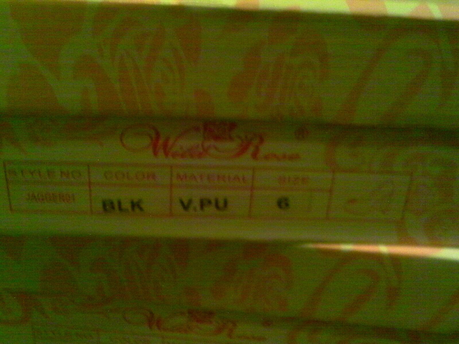 WILD BLING ROSE BLACK SUEDE LOOK GOLD METALIC BLING WILD PUMP 8.5 M PLATFORM 0afe08