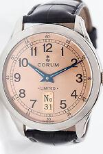 RARE XL Collectible Corum 40mm Mens PLATINUM Watch LIMITED EDITION