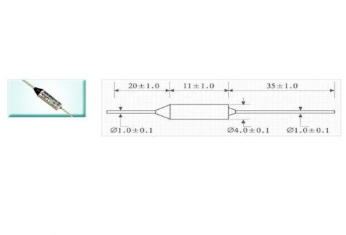 100Pcs Aupo Thermal Fuse Cutoff TF 172℃ 250V 16A BF172X