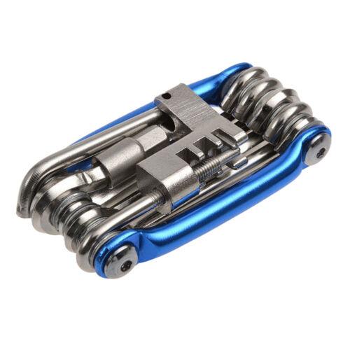 UK/_ EG/_ Bike 11in1 Multi Tool Chain Rivet Extractor Mini Pocket Repair Folding K