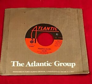 AC-DC-Highway-To-Hell-1979-USA-7-034-vinyl-single-EXCELLENT-CONDITION-45