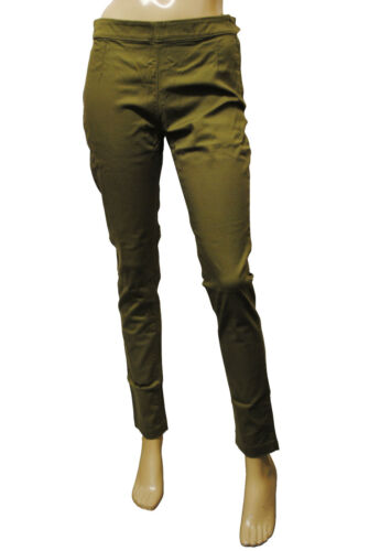 Womens F/&F Skinny Fit Jeggings Soft Cotton Trousers Olive Size 12 Ladies D1.3