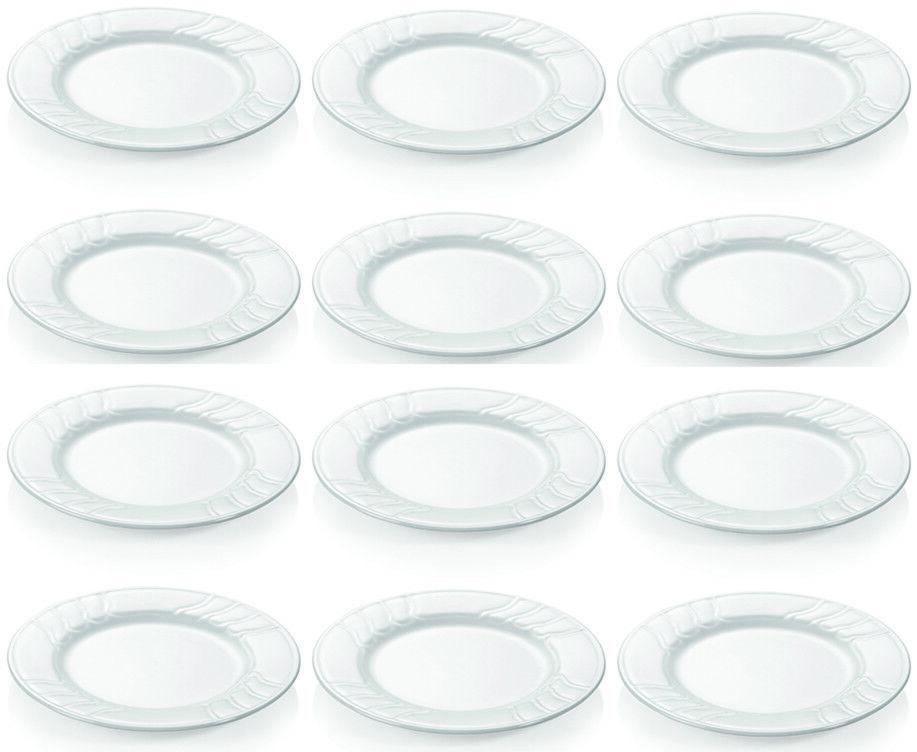 12x assiette avec dekorand, Plat, Porcelaine, Blanc, 30 cm