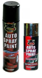 auto spray black matt chrome aerosol auto spray paint cans cars vans. Black Bedroom Furniture Sets. Home Design Ideas