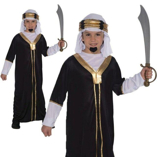 Child Costume Sultan Boy Arab Fancy Dress Book Week Arabian