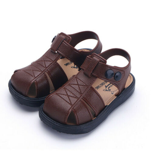 Children Kids Toddler Boys Girls Closed Toe Summer Beach Sandals Shoes Sneakers