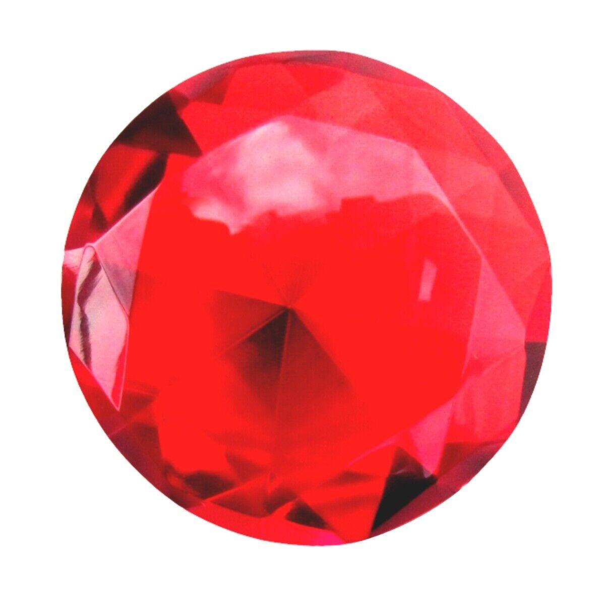 60mm Pink Crystal Diamond Jewel Paperweight