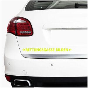 Rettungsgasse-Bilden-30cm-Neon-Gelb-Aufkleber-Folie-Stau-Sticker-Auto-Leben-K088