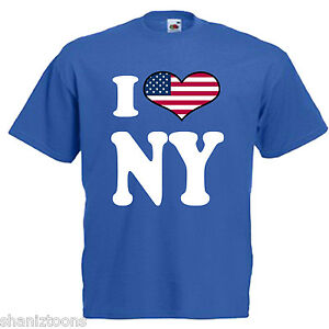 I-Love-Heart-NY-New-York-Adults-Mens-T-Shirt-12-Colours-Size-S-3XL