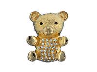 Eisenberg Ice Crystal Teddy Bear Brooch - Pin