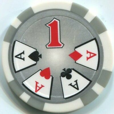 5 pc 5 colors 11.5 g Cards and Dice poker chip samples set #154