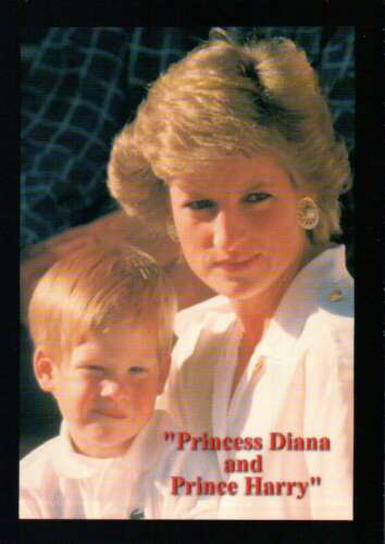 Not a Postcard Mother and Son - Trading Card Princess Diana and Prince Harry