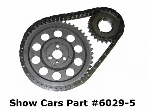 58-65 348 409 CHEVY IMPALA SS CLOYES ROLLER TIMING GEAR CHAIN SET OVERSIZE .005
