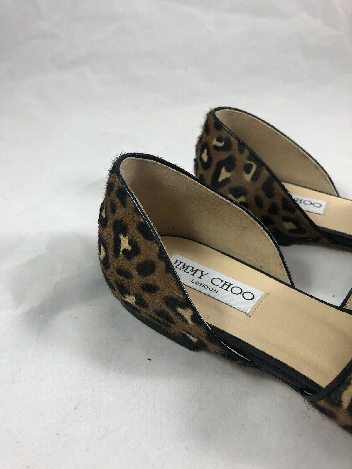 Jimmy Choo Globe Flat in Leopard Print Pony Size 37 37 37 5f7e54