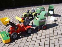 """Für rolly toys Trettraktor Anhänger """"Mähwerk /Rundballenpresse/Mulcher NEU"""""""