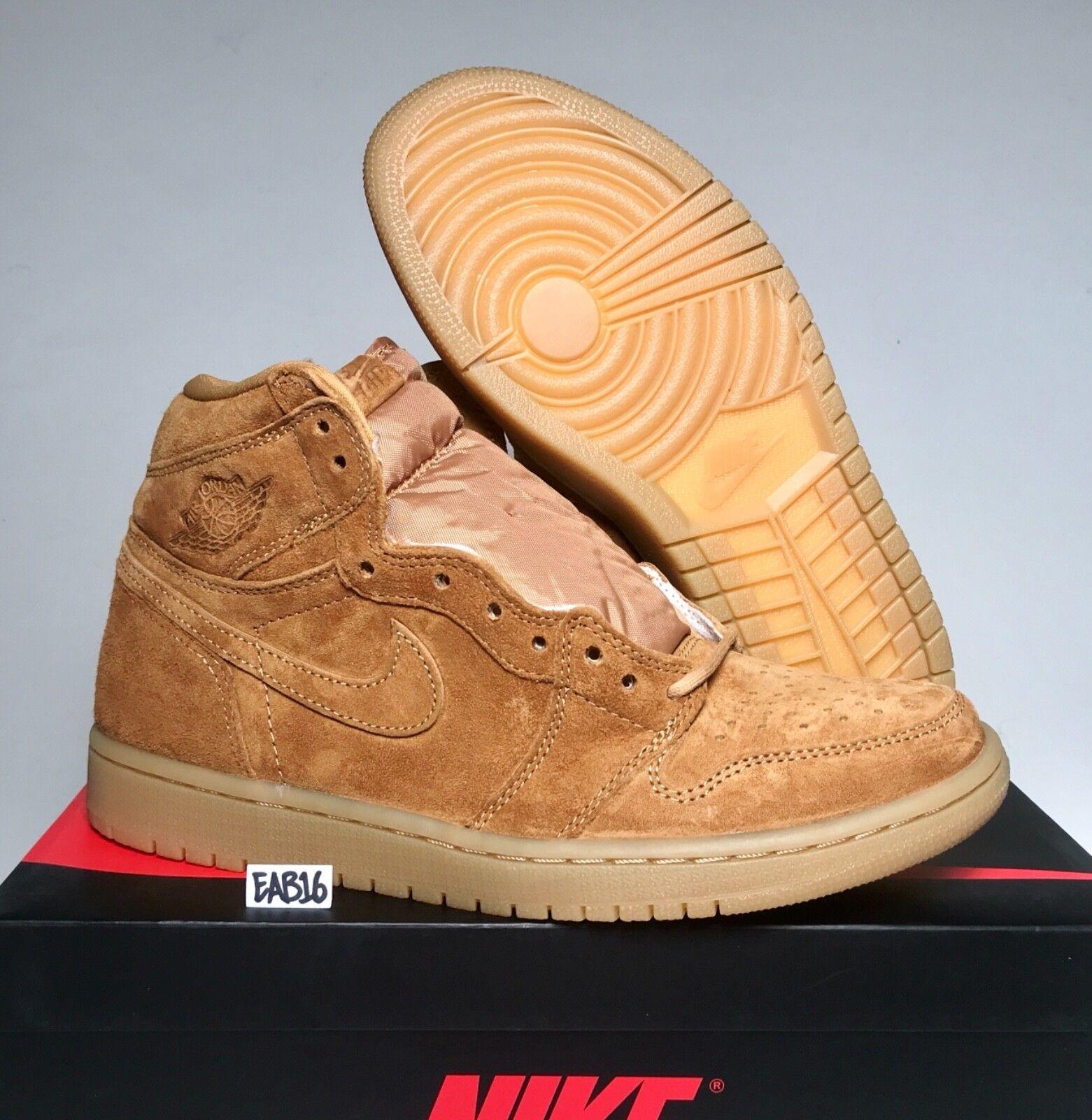 Nike air jordan retr 1 og 555088-710 alto grano raccolto d'oro 555088-710 og elementare brown a91cfc