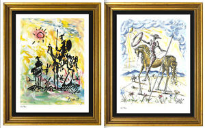 2-034-Don-Quixote-034-Signed-Numbered-Ltd-Ed-Prints-Picasso-amp-Salvador-Dali-unframed