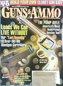 Vintage-GUNS-amp-AMMO-magazine-2001-National-Rifle-Association-NRA-hunting
