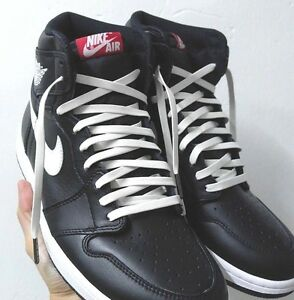 Details about Luxury Synthetic Leather Shoe Laces for Air Jordan 1 4 6 7 Asics/Y-3 White New