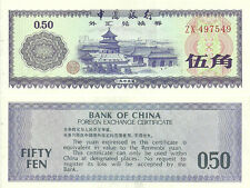 I-10-4, CHINA 50 FEN F,E,C. ND1979 P-FX2 ZX PREFIX, UNCIRCULATED