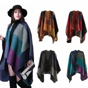 chaud-les-femmes-couverture-le-cachemire-poncho-wrap-chale-patchwork-ecossais