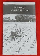 Farming With The Farmall Cub Ih Dealer Sales Brochure Booklet