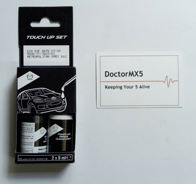 base Laquer Pintura retocar Kit Genuino Mazda MX5 NB MX-5 29Y Gris Titanio II