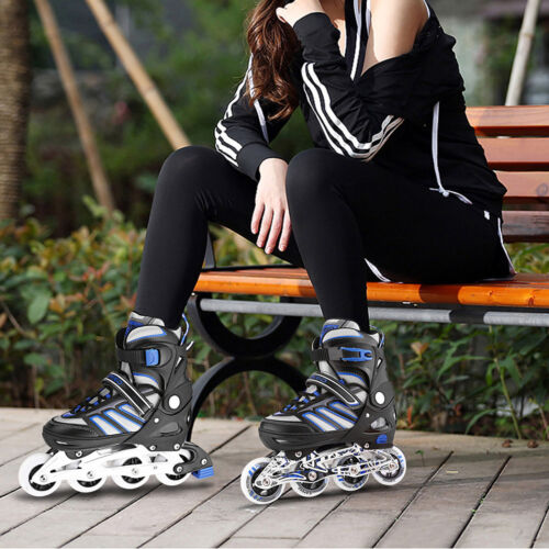 Size S~L PU Wheel Inline Skate Rollerblade Roller Blades Boots for Boys Girls