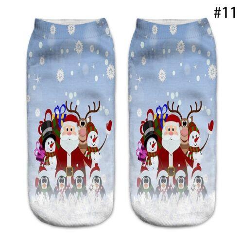 12 Styles 3D Damen Chriatmas Casual Socken Kurz Socken Socke Unisex Ankle S D4D1