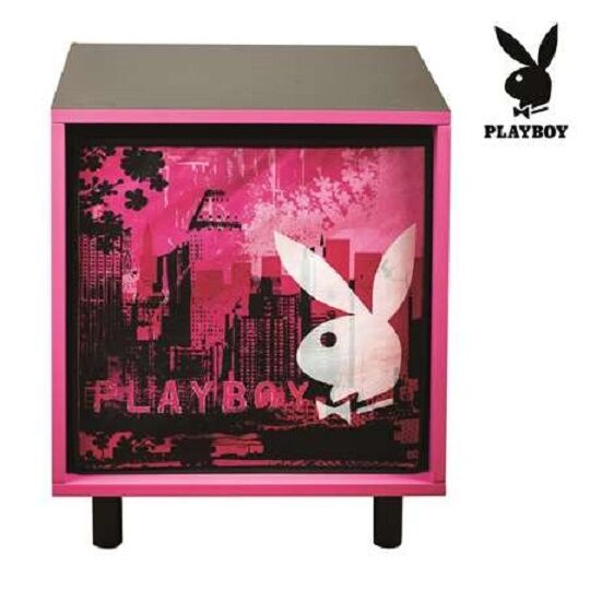 Playboy City Bunny Bedside Table Storage Bedroom Home Decor For Sale Online