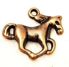 50Pcs. WHOLESALE Tibetan Antique Copper HORSE Charms Pendant Earring Drops Q0100