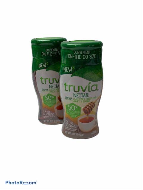 Truvia Nectar Stevia Sweetener Blend w/ Honey  3.52oz Each 2 bottles