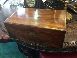 Antique-Brass-Bound-Victorian-Walnut-Writing-Box-Slope