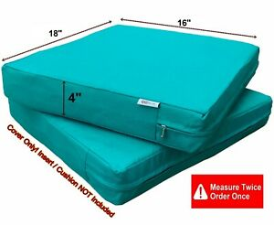 Awesome Details About Waterproof Outdoor Seat Chair Patio Cushion Cover Duvet Case 16X18X4 Peacock Ibusinesslaw Wood Chair Design Ideas Ibusinesslaworg